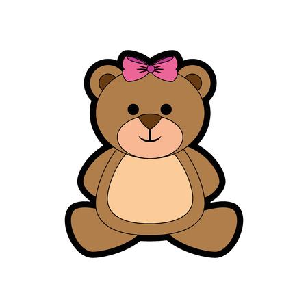 곰 귀여운 만화 아이콘 벡터 일러스트 그래픽 디자인 일러스트