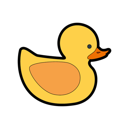 duckie: ducky toy cartoon icon vector illustration graphic design