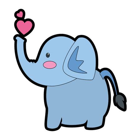 elephant affectionate cartoon icon vector illustration graphic design