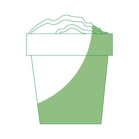 Fertile land for gardening icon vector illustration graphic design