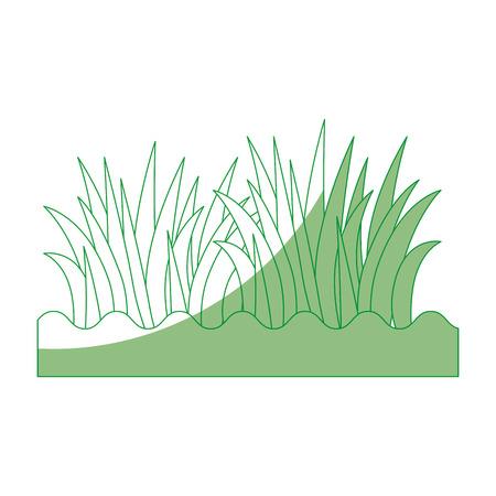 Gras en grafisch de illustratie grafisch ontwerp van het grondpictogram