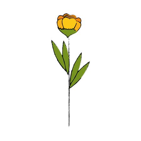 Beautiful ornamental flower icon vector illustration graphic design Иллюстрация