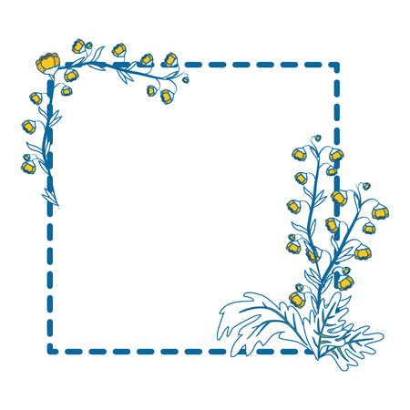 Frame with flowers icon vector illustration graphic design
