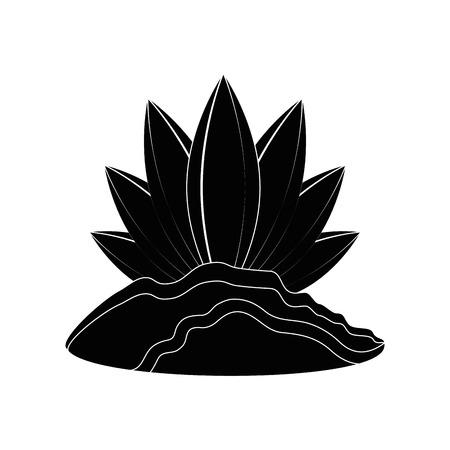 Plant natuur ecologie pictogram vector illustratie grafisch ontwerp