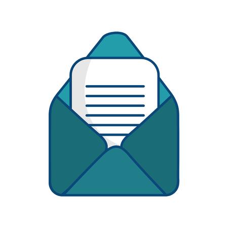 이메일 또는 메일 기호 아이콘 벡터 일러스트 그래픽 디자인