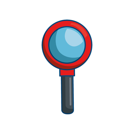 Magnifying glass lupe icon vector illustration graphic design Stock Vector - 79819194