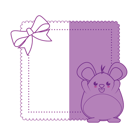 Little mouse  cartoon icon vector illustration graphic design Illustration