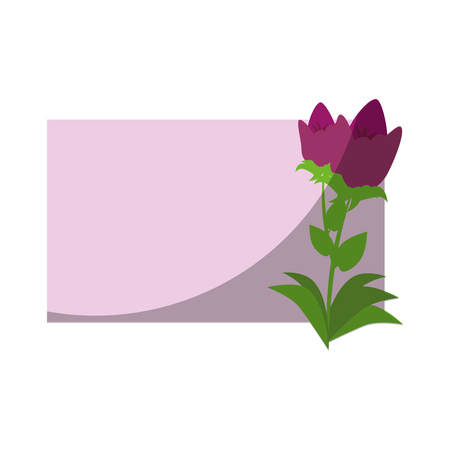 Frame with flowers icon vector illustration graphic design Stock Vector - 79820899