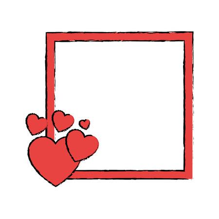 Hearts and love icon vector illustration graphic design
