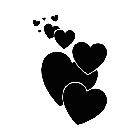 Hearts and love icon vector illustration graphic design Reklamní fotografie - 79820101