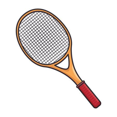 Tennis racket equipment icon vector illustration graphic design Illustration