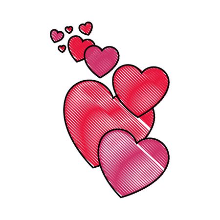 Hearts and love icon vector illustration graphic design