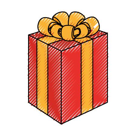 giftbox present isolated icon vector illustration design Illustration