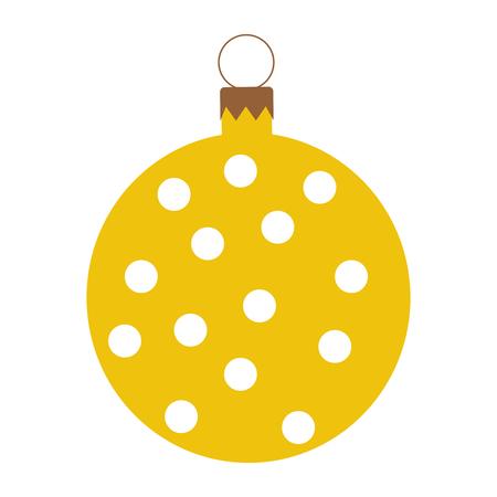 christmas ball isolated icon vector illustration design Stock Vector - 79885116