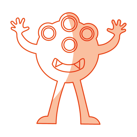 funny monster character icon vector illustration design
