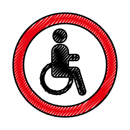 disable person isolated icon vector illustration design