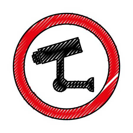 Progettazione dell'illustrazione di vettore dell'icona del sistema di sicurezza del cctv Archivio Fotografico - 79878384