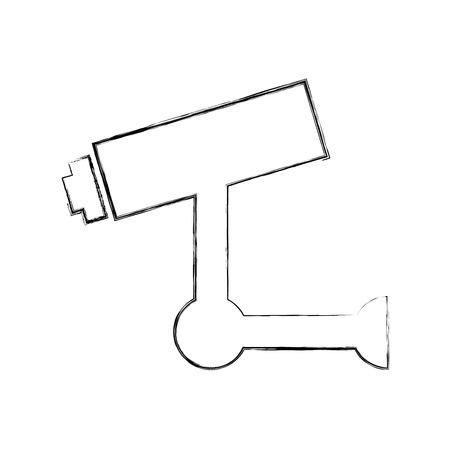Progettazione dell'illustrazione di vettore dell'icona del sistema di sicurezza del cctv Archivio Fotografico - 79878392