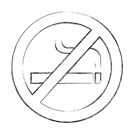 denied cigarette signal isolated icon vector ilustration
