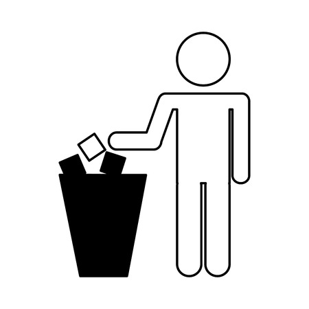 To deposit garbage sign vector illustration design
