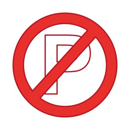 denied parking signal isolated icon vector illustration design