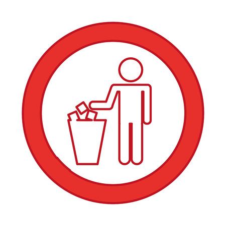 To deposit garbage sign vector illustration design Stock Vector - 79888102