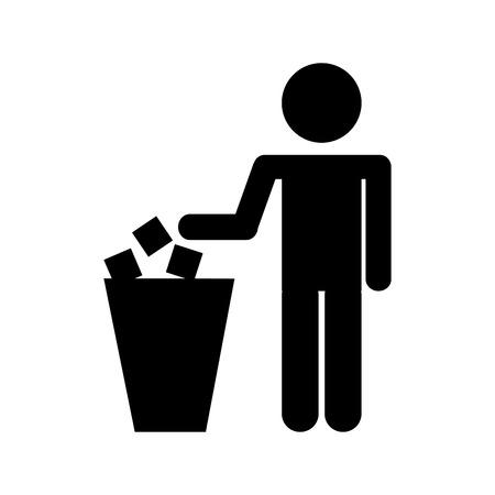 To deposit garbage sign vector illustration design