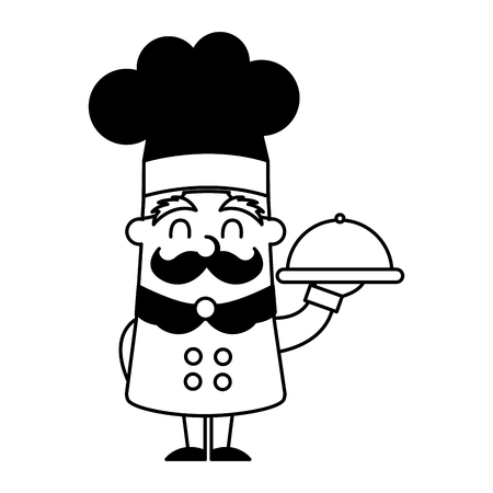 funny chef avatar character vector illustration design