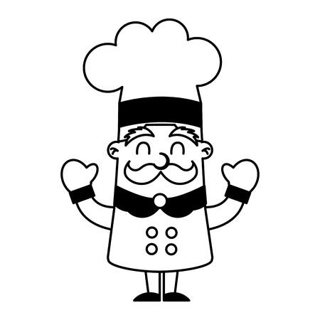 grappig chef-kokavatar ontwerp van de karakter het vectorillustratie