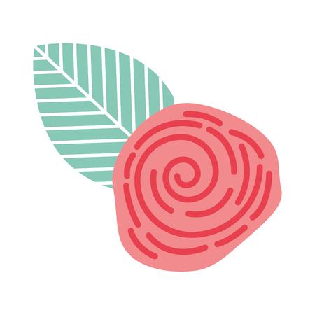 cute flower rose icon vector illustration design