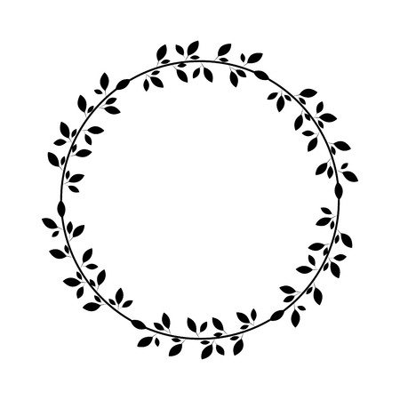 wreath with leafs icon vector illustration design Illustration