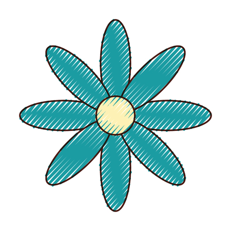 Cute flower isolated icon vector illustration design.