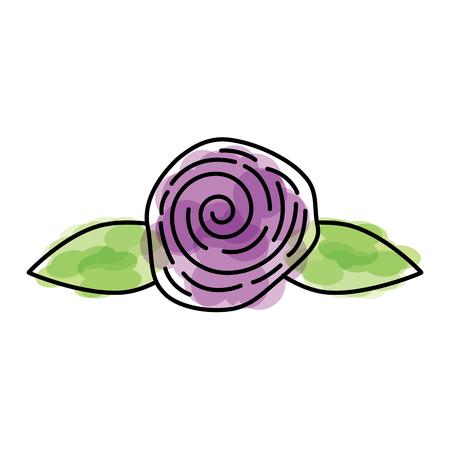 Cute flower rose icon vector illustration design. Illustration