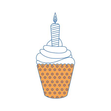 Ice cream candle vector illustration graphic design icon. Illustration