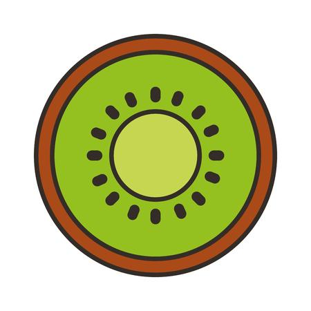 キウイ フルーツ アイコン ベクトル イラスト デザインを分離しました。  イラスト・ベクター素材