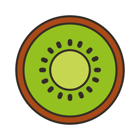 Kiwi vers fruit geïsoleerd pictogram vector illustratie ontwerp