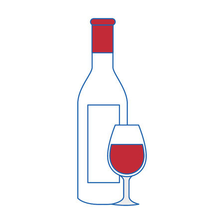 winemaking: wine cup bottle vector illustration graphic design icon
