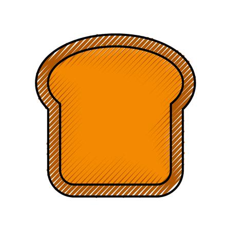 delicious bread slice isolated icon vector illustration design Иллюстрация