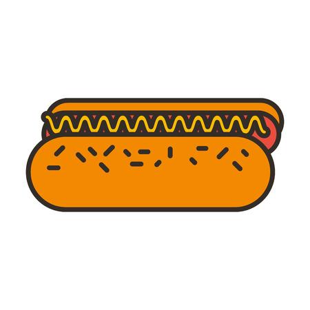 delicious hot dog icon vector illustration design Stock Vector - 79888865