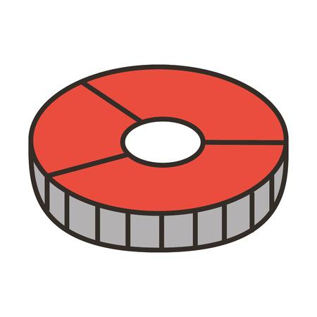 Tranche de saumon isolé icône vector illustration design Banque d'images - 79888871