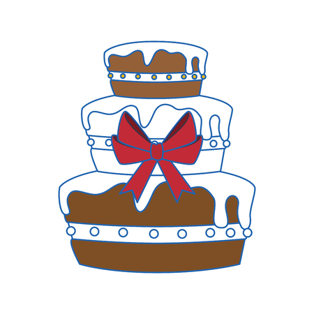 vanilla pudding: Gateau cake sweet vector illustration graphic design icon.
