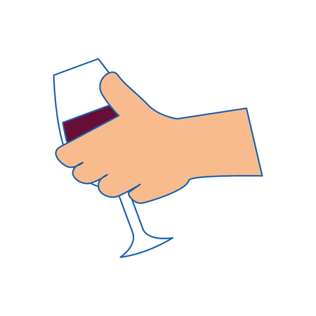 winemaking: wine drink cup vector illustration graphic design icon