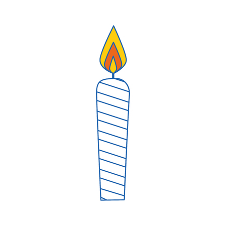 candle fire light vector illustration graphic design icon