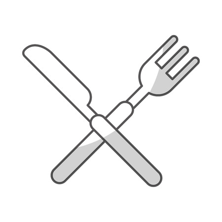 knife and fork cutlery isolated icon vector illustration design Illustration