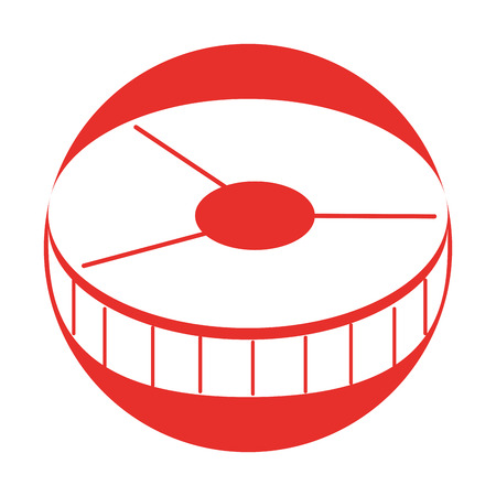 Tranche de saumon isolé icône vector illustration design Banque d'images - 79889370