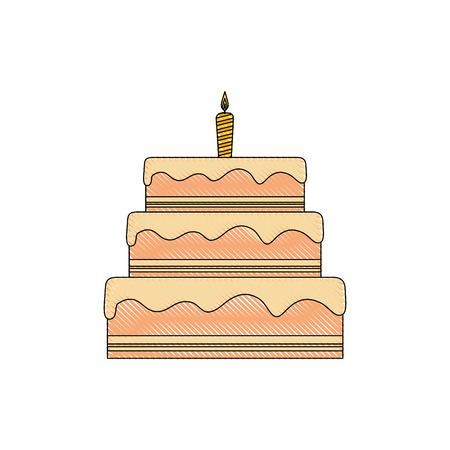 vanilla pudding: gateau cake sweet vector illustration graphic design icon