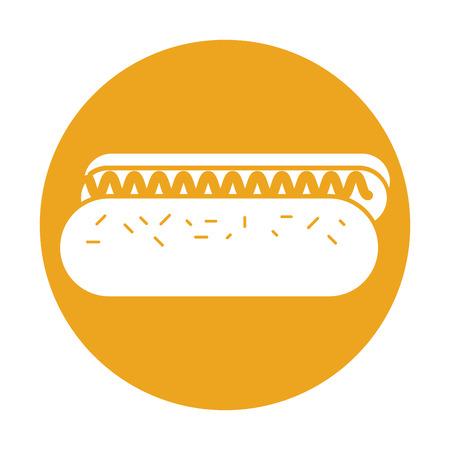 delicious hot dog icon vector illustration design Illustration