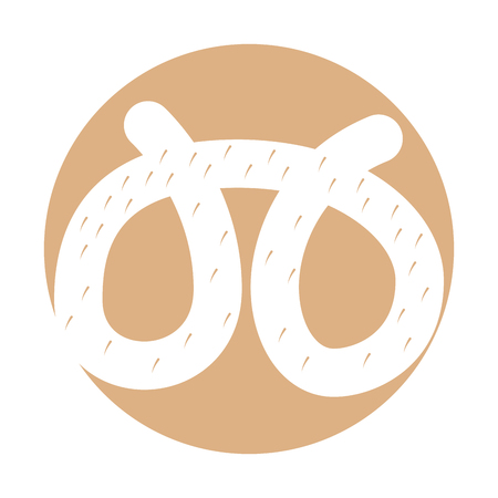 delicious pretzel isolated icon vector illustration design 向量圖像