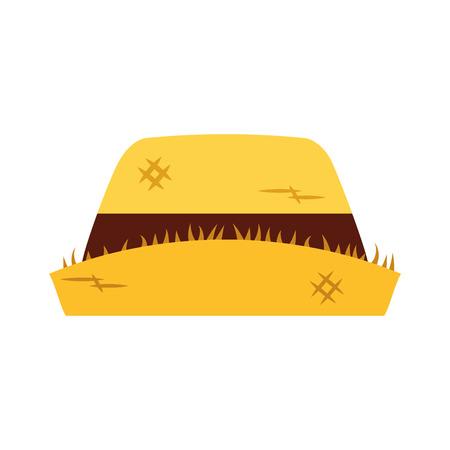 male farmer hat icon vector illustration design