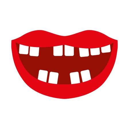 Mouth with bad teeth vector illustration design Imagens - 79891933